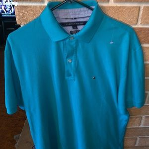 Tommy Hilfiger large teal polo!